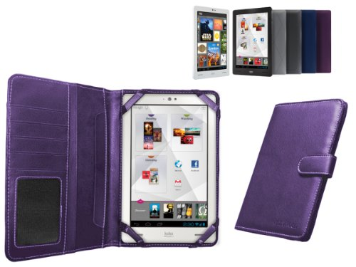 MiTAB Purple Bycast Leather Case Cover Sleeve For The New Kobo Arc 7
