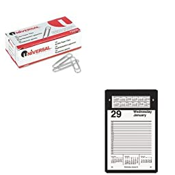 KITAAGE45850UNV72220 - Value Kit - At-a-Glance Pad-Style Desk Calendar Refill (AAGE45850) and Universal Smooth Paper Clips (UNV72220)