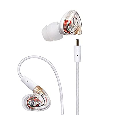 GranVela MX310 Plus Dynamic Drice In-Ear Stereo Earphones Noise-isolating Headphones with Microphone, Memory Wire, Remote and Universal Volume Control for Sport and Musician's Earbuds