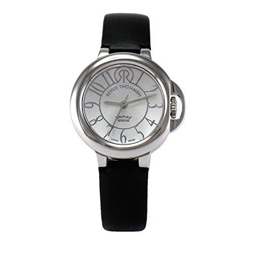 Revue Thommen - 109.01.03 - Cosmo Lifestyle - Montre Femme - Automatique Analogique - Cadran Gris - Bracelet Cuir Noir