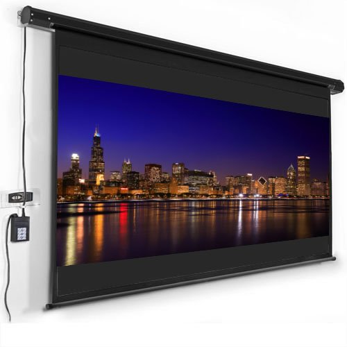 Motorized Projector Screen 120″ 16:9 Remote Control Black Matt Movie Projector Black