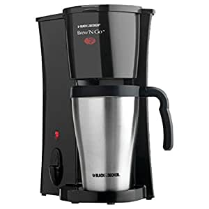 Black & Decker DCM18S Brew 'n Go Personal Coffeemaker with Travel Mug