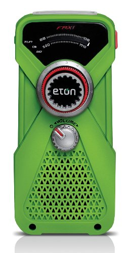Eton Hand Turbine AM/FM Weather Radio and LED Flashlight - Green (NFRX1WXGR)