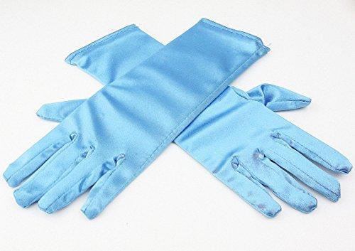 Girls Disney Frozen Elsa Princess Blue Gloves Costume Age 3-7 Accessories Gift