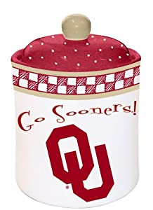 Oklahoma Gameday Cookie Jar