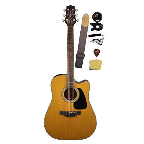 Takamine Gd30Ce-Nat Dreadnought Cutaway Acoustic-Electric Guitar Bundle, Natural