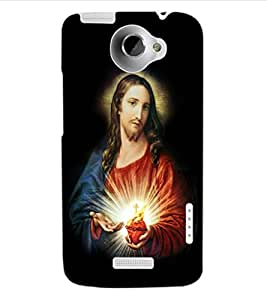 ColourCraft Lord Jesus Design Back Case Cover for HTC ONE X