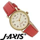 J-AXIS 10気圧 革ベルト 腕時計 女性に人気のかわいい腕時計 オレンジ DL800-OR