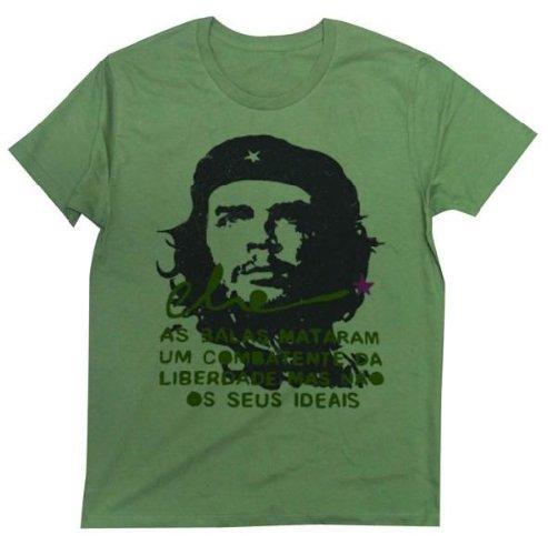 CHE GUEVARA Tシャツ 待ってましたチェ・ゲバラ! スプレーで壁に落書きしたような絶妙な風合いのデザイン Tシャツ CHE GUEVARA (L, KHAKI)