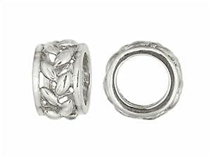 Storywheel Wheat Pattern Bead / Charm in Sterling Silver