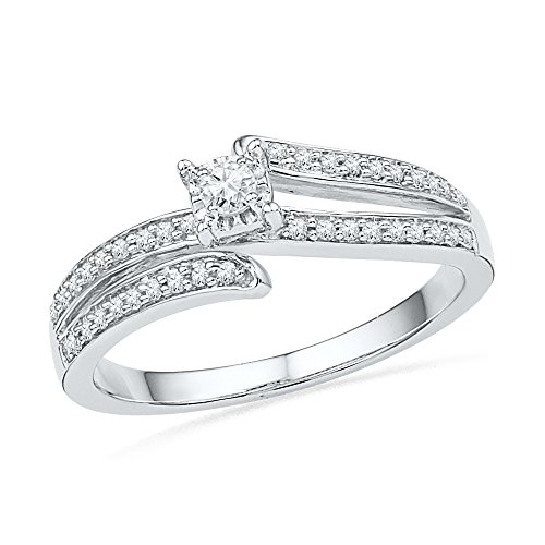 amazing 10k white gold and solitaire promise ring