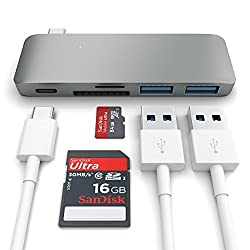 Satechi Type-C USB 3.0 3 in 1 Combo Hub for MacBook 12-Inch (with USB -C Charging Port) Space Gray