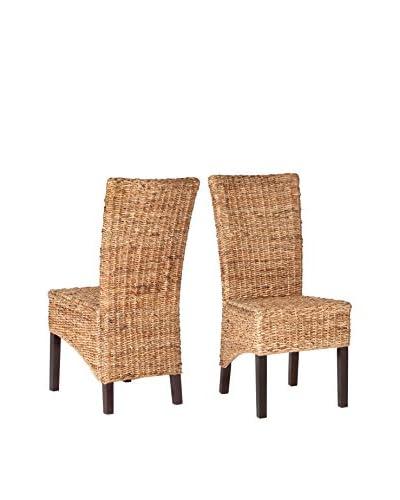 Safavieh Set of 2 Kiska Side Chairs, Natural
