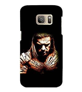 printtech Edge WWE Back Case Cover for Samsung Galaxy S7 :: Samsung Galaxy S7 Duos with dual-SIM card slots