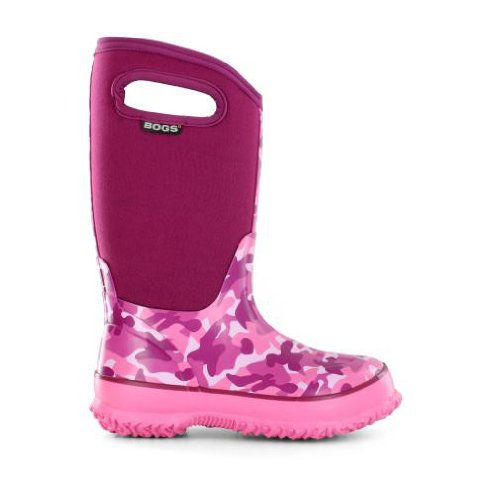 Bogs Kids Classic Camo Waterproof Insulated Boot (Toddler/Little Kid/Big Kid),Pink Camo,2 M US Little Kid (Pink Insulated Boots compare prices)