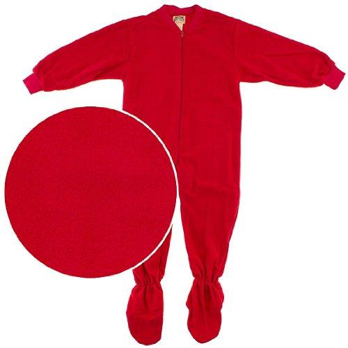 2ad70c7757 Big Feet PJs Red Fleece Footed Pajamas for Kids S