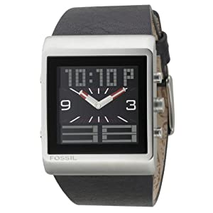 Amazon.com: Fossil Digital And Analog Leather Band Mens Watch - JR9454