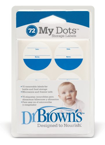 Dr. Brown'S Designed To Nourish My Dot Storage Labels, 72-Count, Colors May Vary front-827749