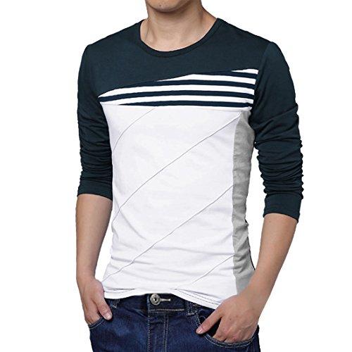 Allegra-K-Men-Color-Block-Stripes-T-Shirt