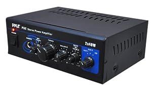 Pyle Home PTA2 Mini 2 x 40-Watt Stereo Power Amplifier