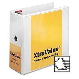 Wholesale CASE of 5 - Cardinal Xtravalue Clearvue Locking D-Ring Binders-Clearvue Locking D-Ring Binder, 5\