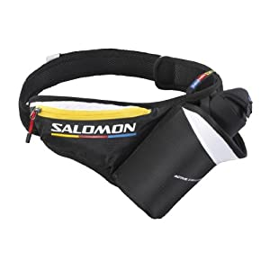 Salomon, Cintura porta borraccia unisex Trinkgurt Active Insulated , Nero (black/coron), Taglia unica