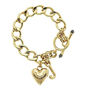 Juicy Couture Toggle Heart Gold- Plated Bracelet