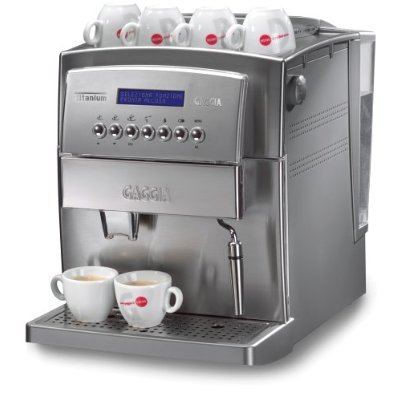 Gaggia 90501 Titanium SS Super Automatic Espresso and Cappuccino Machine, Stainless Steel