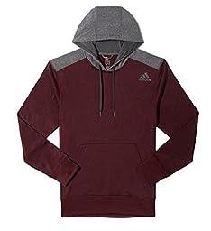 Adidas Mens Tech Fleece Hooded Training Sweatshirt (Large, Maroon/Grey)