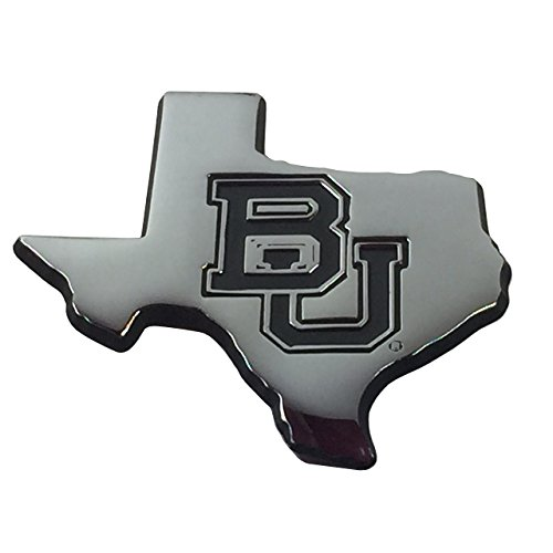 Baylor State Shaped Auto Emblem (debossed) (Baylor Auto Decal compare prices)