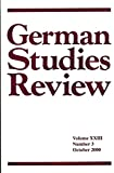 img - for German Studies Review : Articles- Novels of Friedrich Spielhagen; Works of Alev Tekinay; Deviant Sexuality in Imperial Germany; Feminism and Eugenics in Germany & Britain; book / textbook / text book