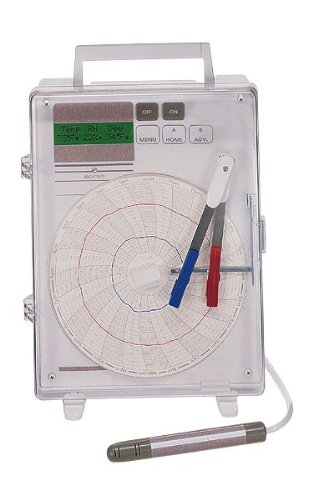 """Chart Paper for 6"""" Multifunctional Two-Channel Recorder; 7 day, 40 to 110°F, 60 sheets/pk"""