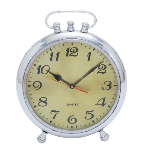 Plutus Brands Solid Classic Metal Clock With Stable Base