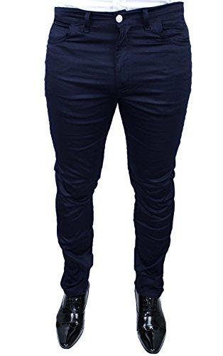 Pantaloni uomo Battistini Jeans blu calibrato taglie forti casual regular fit Made in Italy (60)
