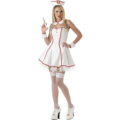 Sweetheart Sexy Nurse Adult Costume (Size: Large 10-12)