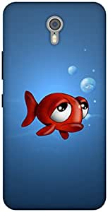 The Racoon Lean printed designer hard back mobile phone case cover for Lenovo Zuk Z1. (fish with)