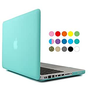 iBenzer - 2 in 1 Multi colors Soft-Touch Plastic Hard Case Cover & Keyboard Cover for Macbook Pro 13'', Turquoise MMP13TBL +1
