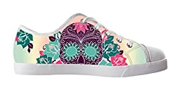 Renben Gorrgeous Nonslip Sugar Skull Kids Girl\'s Canvas Shoes Lace-up Low-top Sneakers Fashion Running Shoes