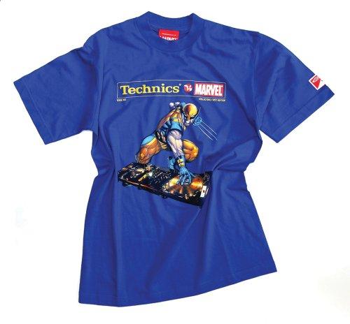 DMC Technics Marvel Wolverine DJ Mens T-Shirt Electric Blue Tm2Ebs Small
