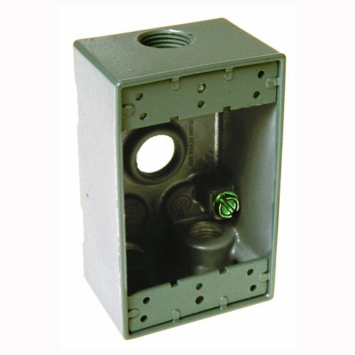 Hubbell Bell 5321-0 Single Gang 4-1/2-Inch Outlets Weatherproof Box, Gray
