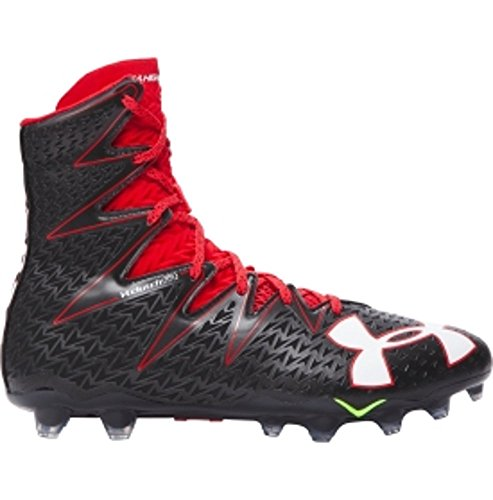 Under Armour Highlight MC Men`s Football Cleats (Black, Red - Size 12)