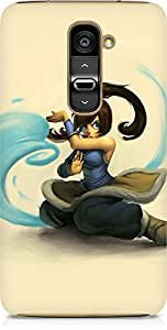 Amez designer printed 3d premium high quality back case cover for LG G2 (Cute young avatar korra drawing art)