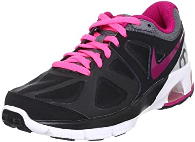 Womens Nike Air Max Run Lite 4 Running Shoe Black/Metallic Dark Grey/Metallic Platinum/Sport Fuchsia Size 8.5