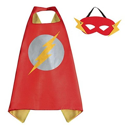 Blue Heron DC Superheroes Adult Size - The Flash Logo Cape and Mask w/Gift Box