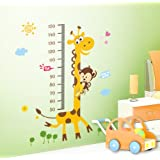 """Toprate (TM) 23.6""""x17.7"""" Growth Chart Giraffe Monkey Height Chart Wall Vinly Decal Decor Sticker Removable,Super for Nursery Playroom Girls and Boys Children's Bedroom"""