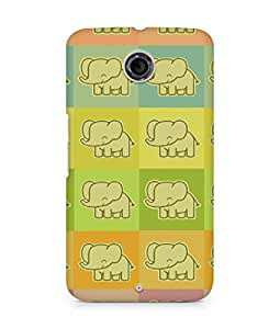 Amez designer printed 3d premium high quality back case cover for Motorola Nexus 6 (Elephants colorful cool drawing)