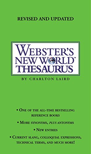 Webster's New World Thesaurus: Third Edition