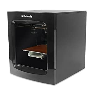 "Solidoodle SD-3DP-4 3D Printer, Black, ABS/PLA Filament, 8"" x 8"" x 8"" Build Volume by Solidoodle"