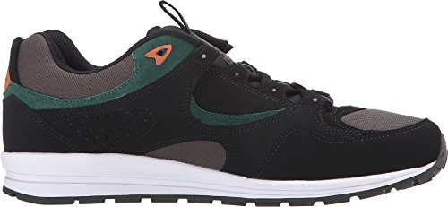 DC Men's Kalis Lite M Skate Shoe, Black/Green/Grey, 13 M US