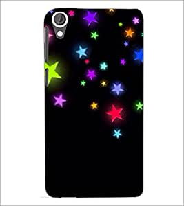 PrintDhaba Stars D-2364 Back Case Cover for HTC DESIRE 820 (Multi-Coloured)